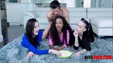 Slutty busty milf gets a double problem for her ass
