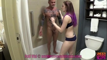 Daughter fucked in front of her father bound