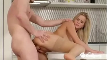 Slutty tattooed trainer Harlow Harrison takes fat cock in her ass